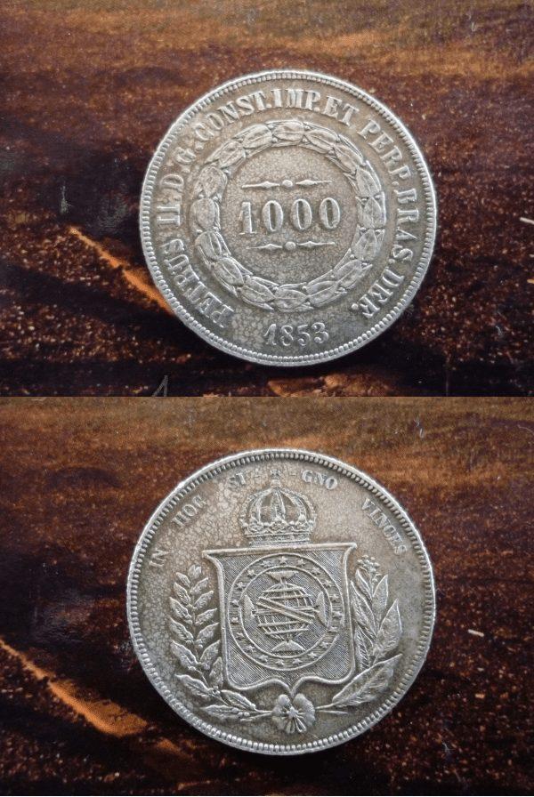 1000 reis 1853 14297 Casa do Colecionador
