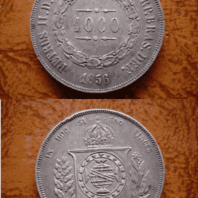 1000 RÉIS PRATA 1856 .