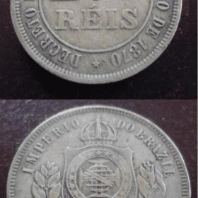 200 réis 1874 império .