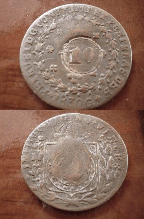 40 reis 1830 g. legenda sem pontuacao 1 Casa do Colecionador
