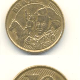 10 cent. 2000 duplo e traco depois do brasil 1326 Casa do Colecionador