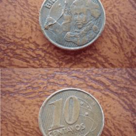 10 cent. real 2002 cunho quebrado 15913 Casa do Colecionador
