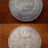 1000 reis prata 1850 27215 Casa do Colecionador