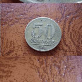 50 CENT. 1946 CUNHO CHUPADO NA FACE 30497 Casa do Colecionador