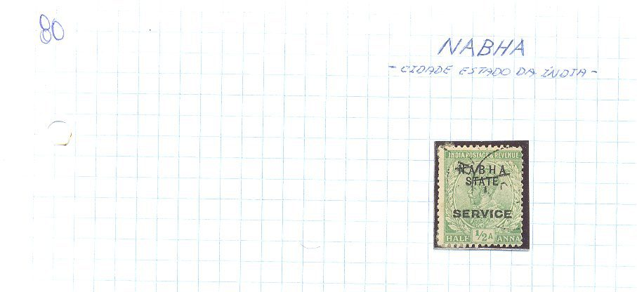 selo de nabha lote 80 Casa do Colecionador