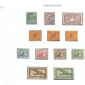 selos da indochina lote 49 Casa do Colecionador