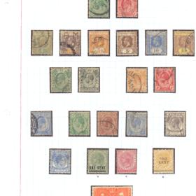 selos de malaca lote 72 Casa do Colecionador