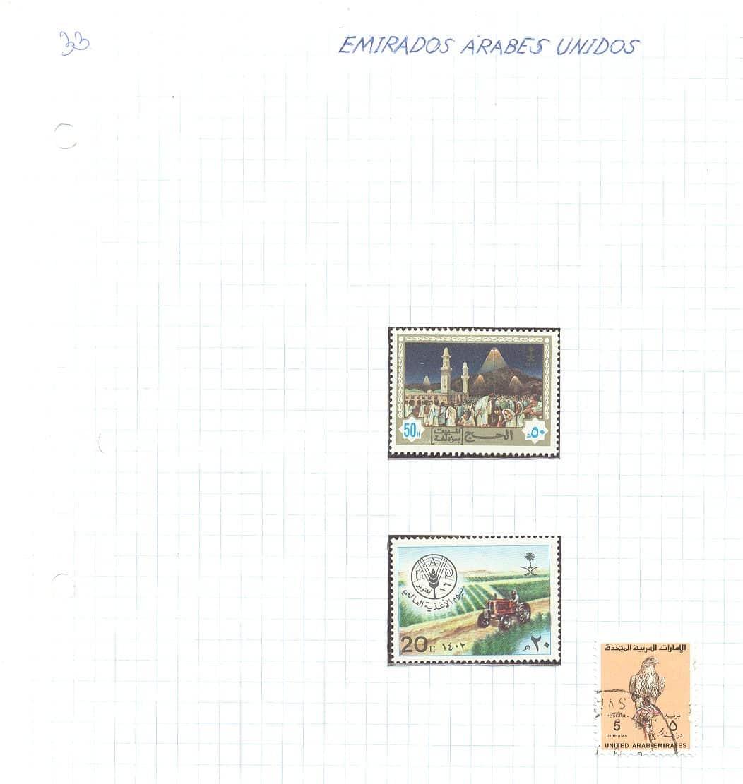selos emirados arabes unidos lote 33 Casa do Colecionador