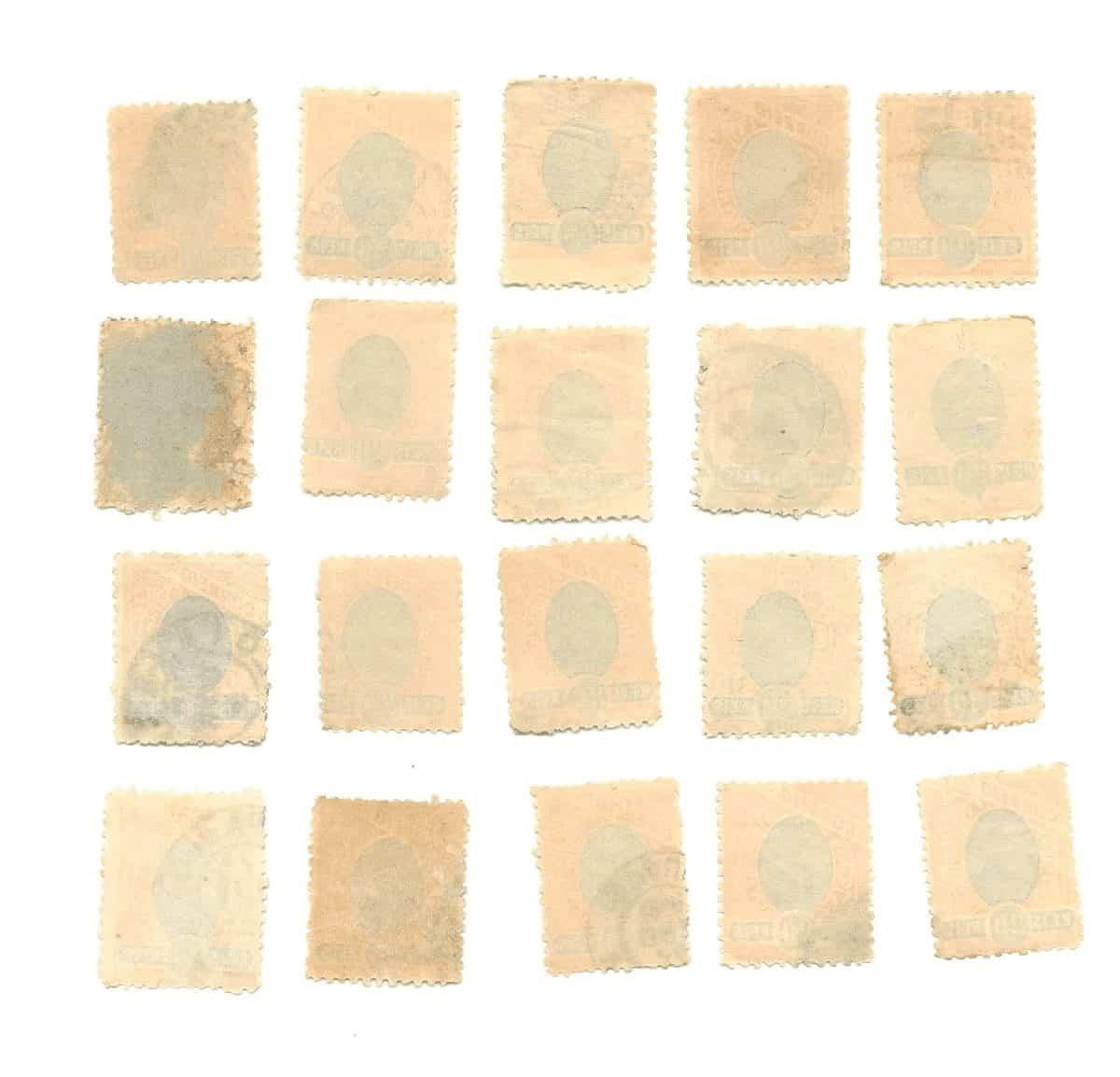 lote com 20 selos de 20 r. 2 Casa do Colecionador