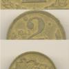 2 crzs. 1943 anverso duplo ver foto. Casa do Colecionador