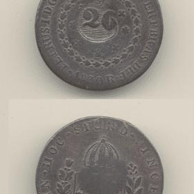 40 reis 1830r. car. de 20r. 1 Casa do Colecionador