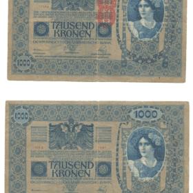 cedula 1000 kronem austria circulada. Casa do Colecionador